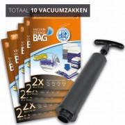 Pakket Vacuumzakken Travel [Set 10 Zakken+Pomp]