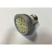 E27-24SMD-220VCW 3W Hideg fehér LED izzó