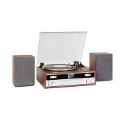 Auna Birmingham, HiFi стерео система, DAB + / FM, BT функция, винил, CD, USB, AUX вход, дърво (MG-TT-Birmingham)