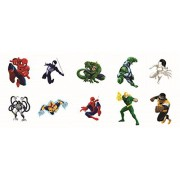 30 Sheets Marvel Ultimate Spider-man Party Favor Temporary Tattoos (Includes Spiderman, Powerman, Ve
