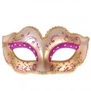 Venetiaans masker paars met goud
