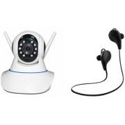Zemini Wifi CCTV Camera and Jogger Bluetooth Headset for SONY xperia m2 dual(Wifi CCTV Camera with night vision  Jogger Bluetooth Headset With Mic )