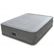 Intex Comfort Плюшено надуваемо легло PVC 152x203x46 см бяло 64414