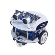 LewanSoul Qbot Programmable Smart Robot Car Kit with Ultrasonic Sensor, Line Tracking Sensor, LED Display, Bluetooth Module, Infrared Remote Control, Mobile APP for Arduino Beginner