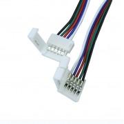 LED szalag forrasztásmentes betáp 5050 RGBW szalaghoz 12 mm