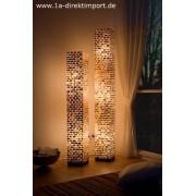 1a Direktimport Exklusive Stehlampe Arielle, Leuchten Lampen mit Fiberglas, Capiz Mosaik
