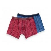 Scotch & Soda Boxershorts 2-Pack Print Blauw/Roze XL
