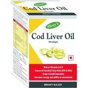 Shrey's Cod Liver Oil Vitamins A D - 100 Capsules (Immunity Booster)