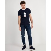 JBC Blauw T-shirt met print Baptiste flandrien