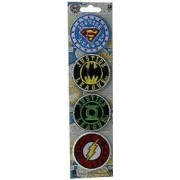 """DC Comics Originals 1.5"""" Green Lantern Justice League Embroidered Mini Color Patch 4 Set (Can Be Ironed Or Sewn On) Officially Licensed DC Products"""