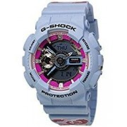 G-shock Women's Analogue-Digital Floral Blue Resin Strap Watch 49x46mm GMAS110F-2A