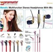 Promate Chrome Metallic Multifunction Stereo