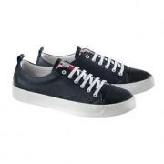 Snipe® Waschbarer Ledersneaker, 45 - Blau