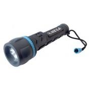 Lanterna cauciucata LED MEGA 51028, 3 Leduri, 2 x AA, 140 mm (Negru)