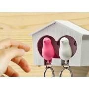 Double Birdy Key Ring - portachiavi coppia di uccellini
