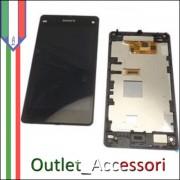 Display Schermo Lcd Touch Screen Vetro Touchscreen Ricambio Completo Sony Xperia Z1 Compact Mini D5503 Nero