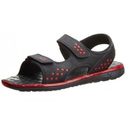 Puma Men's Faas sandal Ind. Black and High Risk Red Athletic & Outdoor Sandals - 8 UK/India (42 EU)