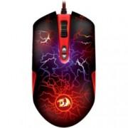 Мишка Redragon LavaWolf Gaming, оптична (3500dpi), USB, черна, Гейминг, LED осветление