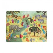 Baby Play Mat for Kids, Microfiber Flannel Fleece & Foam Mat with Non Slip Back Safari Animals, Letters & Numbers