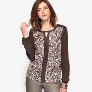 Bedrukte blouse in crêpe