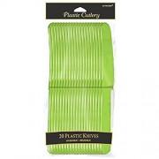 amscan reutilizable Party cuchillo (20unidades), Verde, 23,9x 11,4cm