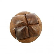 Desi Karigar Hand-Crafted Wooden Jigsaw Soccer Ball 3D Brain Teaser Puzzle Game