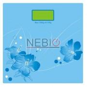 Cantar electronic Victronic, 180 kg, Platforma de sticla, Bleu