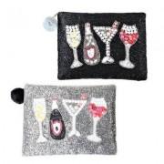 Hoff Interieur Kosmetiktasche mit Perlen Cheers 2-tlg