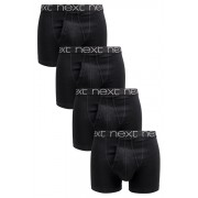 Mens Next Black A-Fronts Four Pack - Black