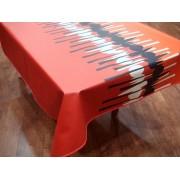 Mantel de Algodón Resinado - Modelo SPOON - Naranja