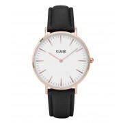 CLUSE Horloges La Boheme Rose Gold Colored White Zwart