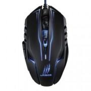 Мишка Hama uRageReaper Ess, оптична (2400 dpi), USB, черна, 5 програмируеми бутонa, LED подсветка