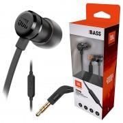 Auriculares com Microfone JBL T290 Pure Bass - Pretos