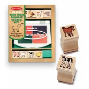 Set de stampile Pui de animale domestice, Melissa and Doug