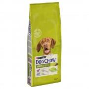 14кг Dog Chow Adult Purina суха храна за кучета - агнешко и ориз