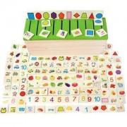 ELECTROPRIME® Wooden Sort Box Sorter with Sorting Lid & Cards Kids Educational Toys Set