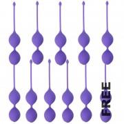 Intense plevit fit bolas silicona lila 10 + 1 gratis
