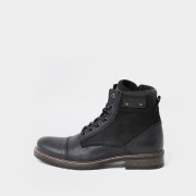 river island Mens Grey leather lace up boots (11)