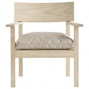Loungestol i accoya behandlat trä, 65 x 68 x H 78 cm, natur Tine K Home