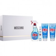Moschino Fresh Couture set cadou V. Apa de Toaleta 100 ml + apă de toaletă roll-on 10 ml + gel de duș și baie 100 ml + Lotiune de corp 100 ml