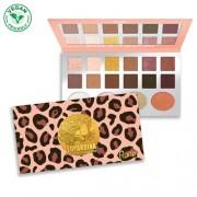 RUDE® Cosmetics Paletă umbre de ochi cu 12 nuanțe și 4 cu tonuri strălucitoare Leopardina (Eyeshadow Palette)