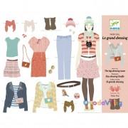 Papírbaba öltöztető - Hatalmas gardrób-Djeco
