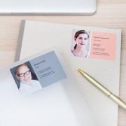 smartphoto Visitkortsklistermärken Stående