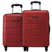 Safari Regloss Anti-Scratch (Combo Set of 2 Small, Medium) Check-in Luggage - 26 inch(Red)