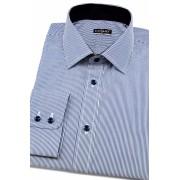 Pánská košile SLIM jemné modrobílé proužky Avantgard 109-493-40/182