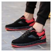 Nueva Zapatos Planos Zapatillas Tennis Casuales Corrida Calzado Deportivo -Negro Y Rojo