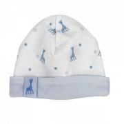 Bonnet naissance - ©Sophie la girafe Blanc/Bleu