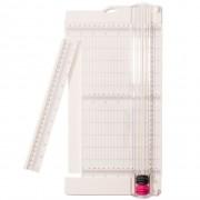 Merkloos Papiersnijder met uitschuifbare liniaal en rilfunctie 30,5 x 15 cm