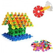 iDream 100pcs 3.2cm Multicolour Interlocking Snowflakes Model Building Block Creative Educational Toy for Kids