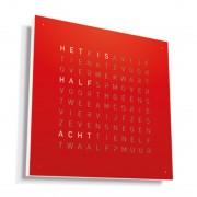 Biegert & Funk Qlocktwo Classic Metaal Klok Red Pepper Nederlands